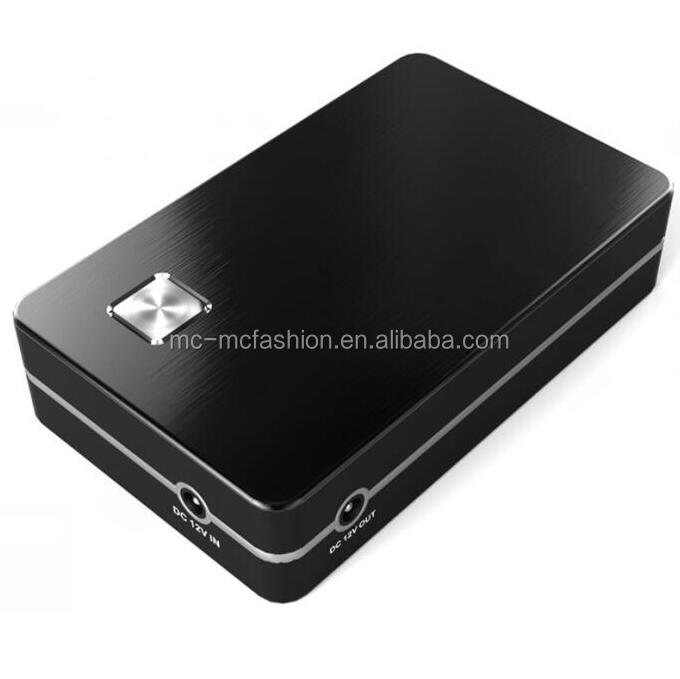 China factory customized logo 8000mAh mini 5A 12v output power bank for VCR DVD
