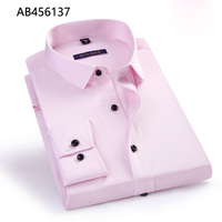 Newly design cotton shirts classy formal pink office wear dress shirts men AB456137