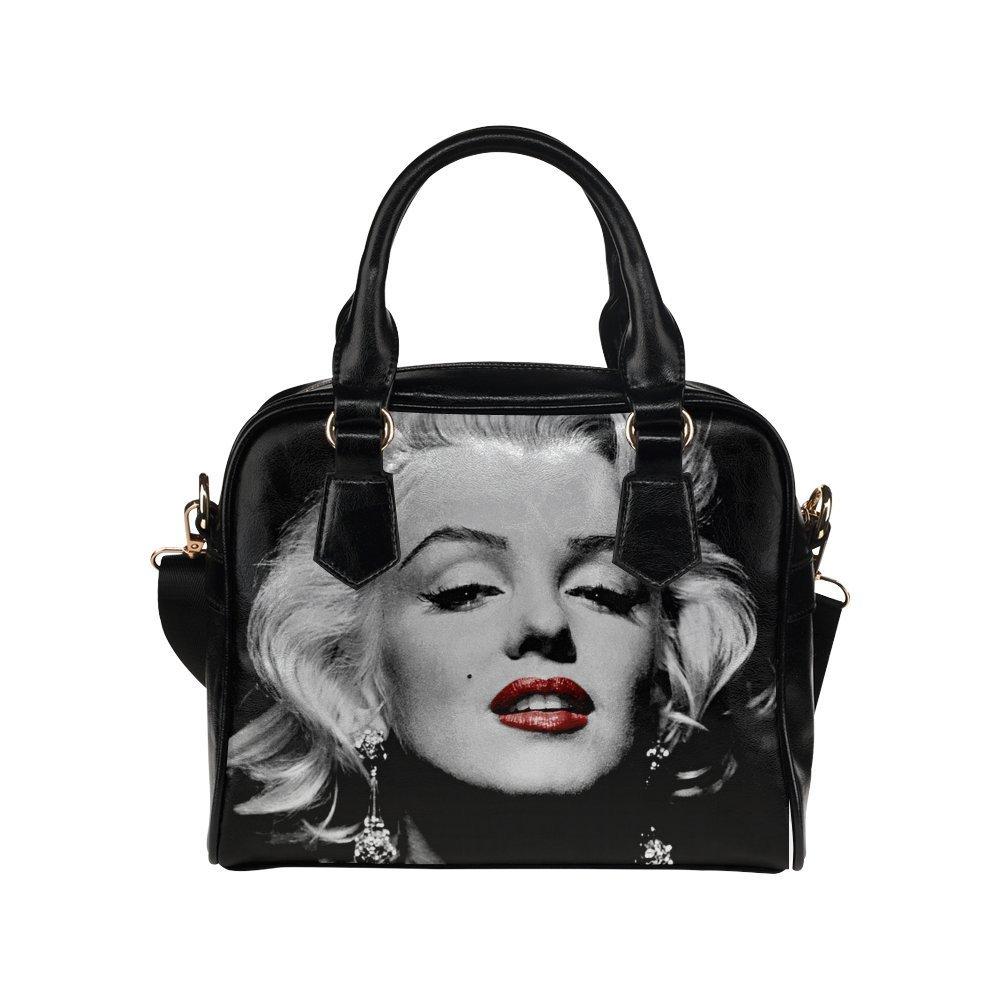 1645 ADEDIY Fashion Queen Red Lipstick Studded Handbag Classic Rivet Shoulder Bag