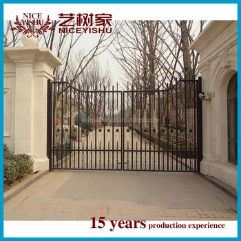 Alibaba All Ingrosso Semplice Unico All Ingrosso Esterno Moderno Scorrevole Cancello Principale Pilastri Di Disegno Alluminio Cancello Per La Scuola