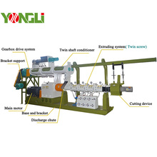 YONGLI 2-3TPH Floating fish feed extruder