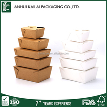 Custom printed disposable kraft paper folding eco friendly lunch box