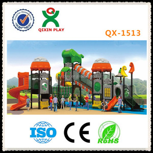 China guangzhou plastic swimming pool slide outdoor play yard slides for outdoor playground QX-1513