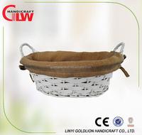 white garden basket for sale garden wire basket rolling garden basket