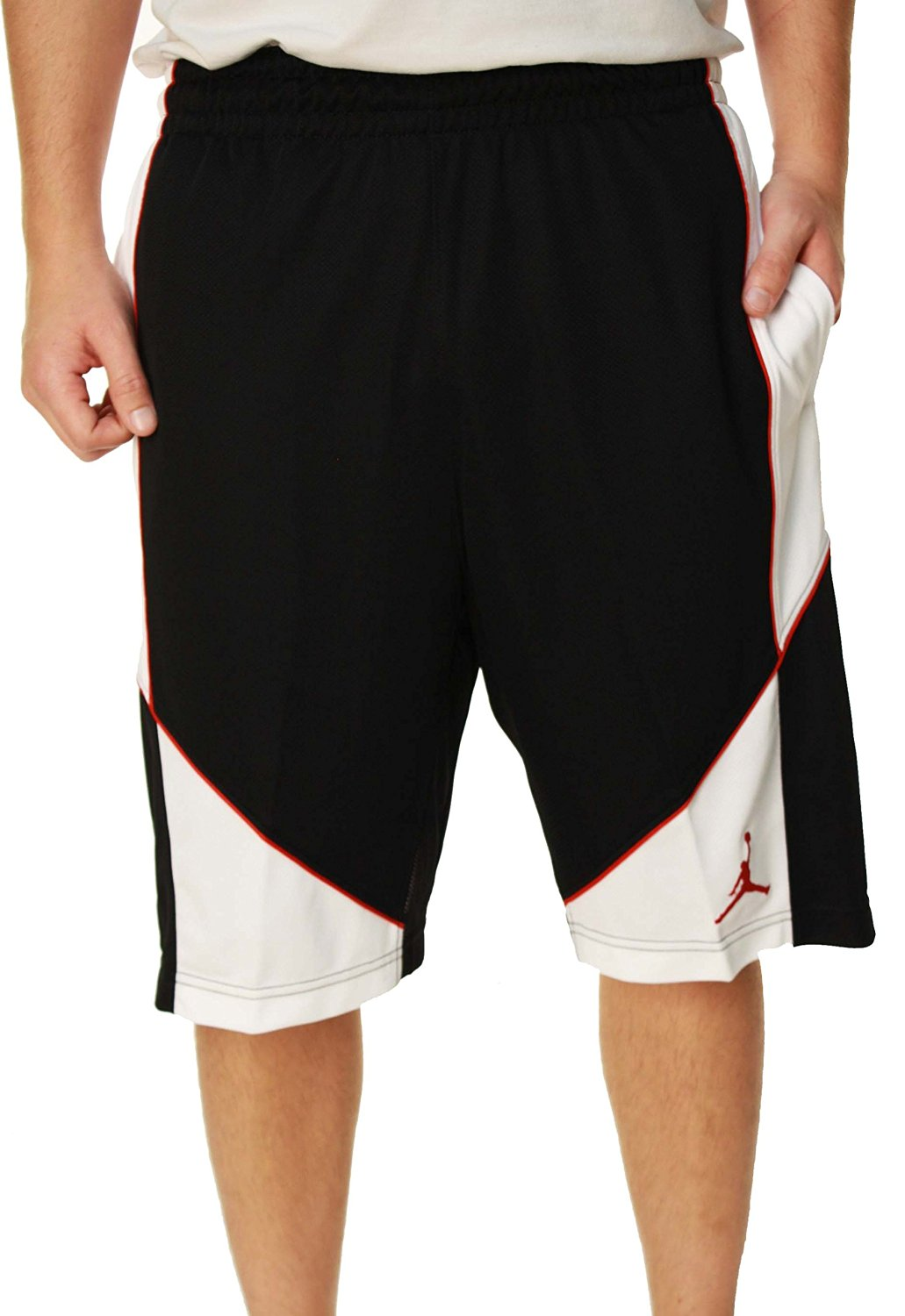 36a1c70a577 Get Quotations · Nike AIR JORDAN AERO MANIA Black White Basketball Shorts  (S)