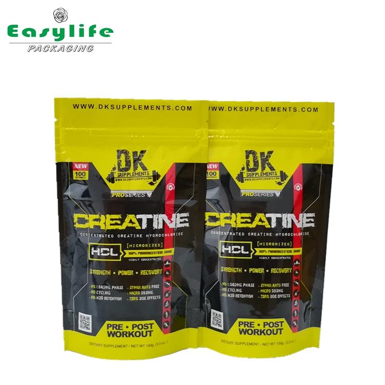 Dk Vmpet Reusable Ziplock Doypack Bag Customized Shining Stand Up Pouch Zipper Resealable
