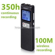 100 Metres 350 Hours long distance Wireless microphone voice recorder