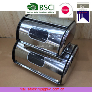 Home Brushed Stainless Steel Bread Box Food Storage Bin/Storage Bin Box/Canister Bin Box