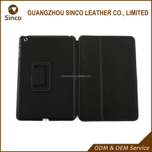 Folio standing real leather case for Ipad mini