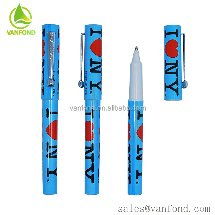 Cheap Simple Plastic Liquidly Ink Pen with Logo Printing