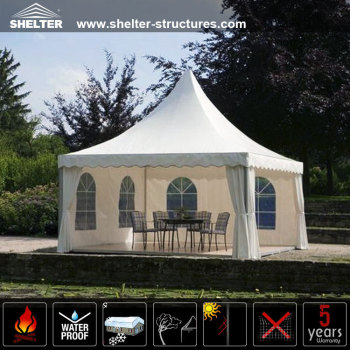 Small Clear span garden gazebo cover with side wall window villa in lawn canopy tent : lawn canopy - memphite.com