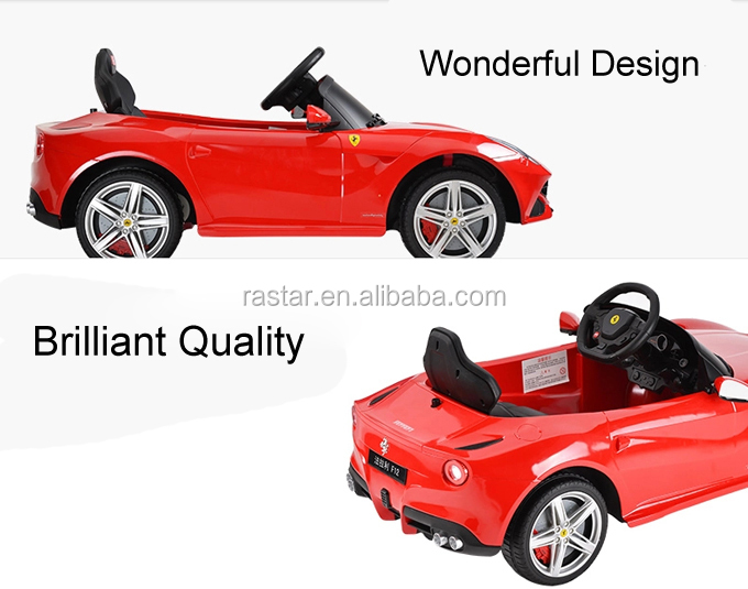 rastar hot sale electric ferrari toy cars for kids to drive automatic