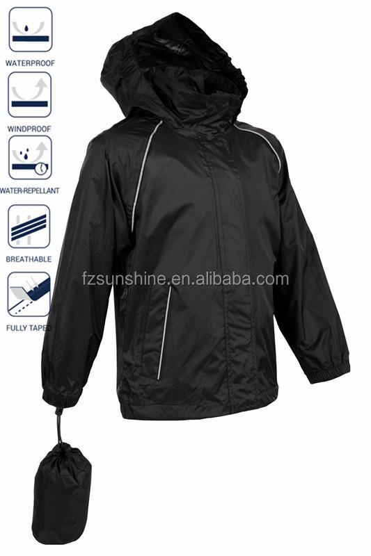 2017 Custom Unisex Plain Windbreaker Jacket With Bag - Buy Unisex ...