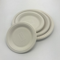 9 Inch Biodegradable Dinner Plate Cornstarch Food Container