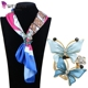 2017 Wholesale New Fashion Enamel Crystal Butterfly Scarf Clips for Lady