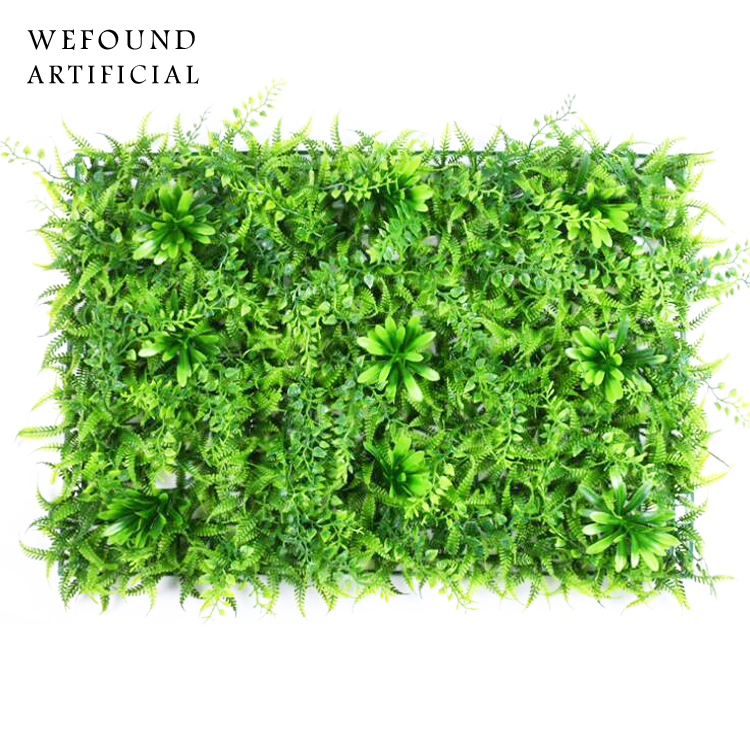 GM105 plastic grass panel artificial grass mat grass wall