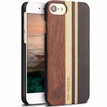 Mixed Wood PC Case For iPhone 7 Unique Design Luxury Wood Mobile Cover