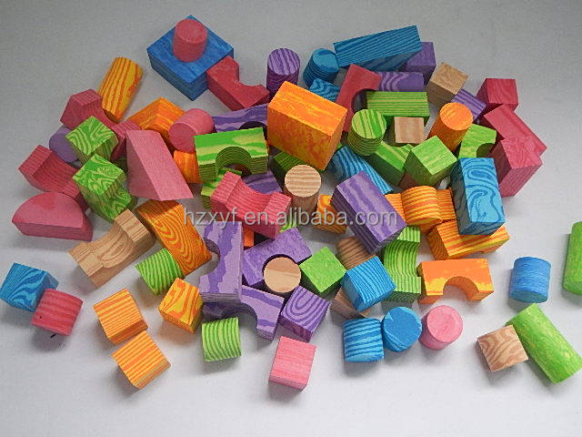 EVA wood building blocks/large foam building blocks