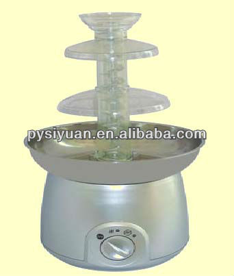 3 tiers stainless steel home chocolate fountain machine