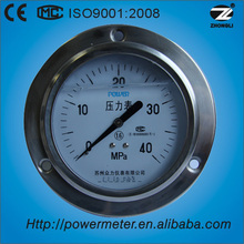 "4"" single dail high pressure eccentric back type mpa pressure gauge with front flange"
