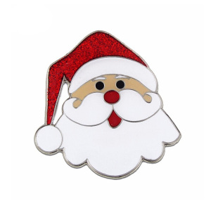 Hot selling gracious father christmas enamel lapel pins for christmas souvenirs