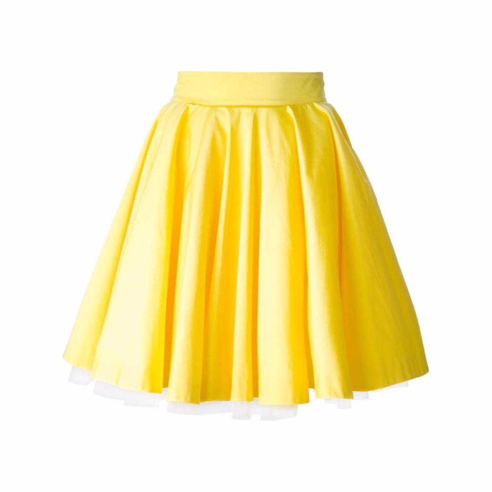a079d085b Compre Nuevo Diseño Falda Amarilla Cremallera Cintura Una Línea ...