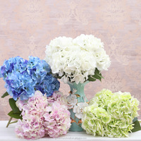 2018 Hot Selling Autumn Color Hydrangea Silk Cheap Wholesale Artificial Flowers
