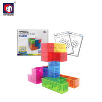 Hot selling kids intelligent 3x3 plastic 3d puzzle cube for sale