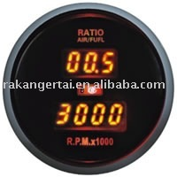 2-in-1 Digital Auto Gauge :Air/Fuel Ratio and Tachometer(DGT86905 )