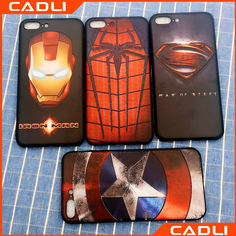 Soft Cover Spiderman US Captain Strong Custom Phone Case For iPhone 6 6s