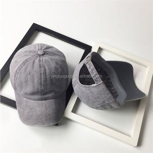 On Sale Vintage Hat Custom Color Stone Washed Denim Baseball Cap