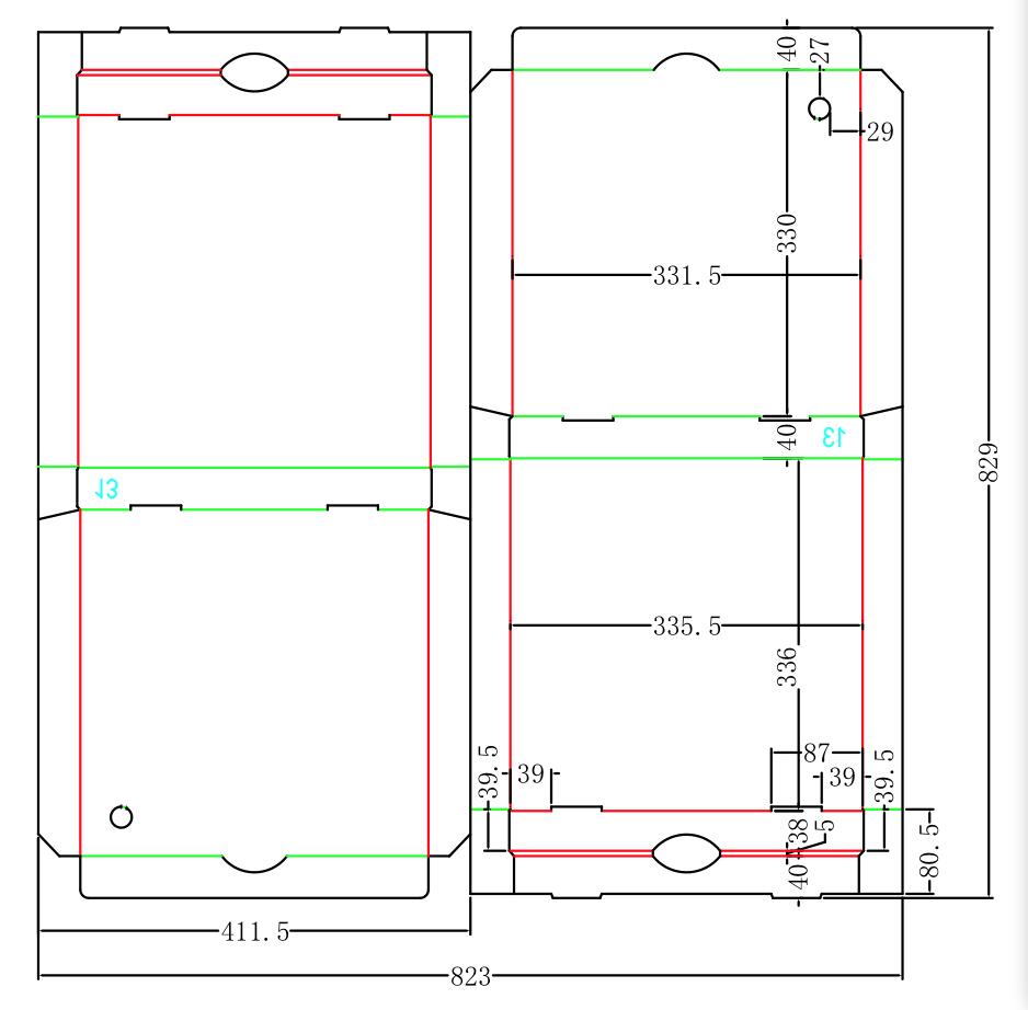 Corrugated flat reusable pizza dough box manufacturer for Box blueprint maker