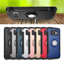 High Quality Protect Cover Ring Holder+TPU Stand Phone Case For Galaxy S7 / S7 edge / S8 / S8 Plus