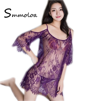 cb26bb4ce Smmoloa Sexy Lingerie Nightwear Sexy Women Transparent Nighty Designs