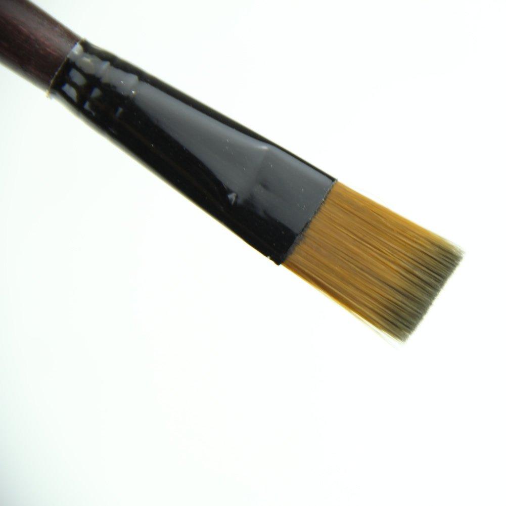 MEXUD 6 Brown Tip Nylon Paint Brushes For Art Artist Supplies