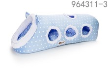 wholesale hot best selling new products 2016 cat accessories blue cozy cave tunnel four holes dog house for cats