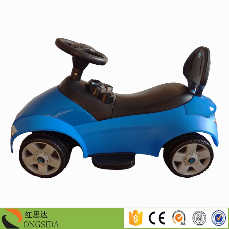 Cheap kids ride on car / children blue sliding car / baby slide car with light and music