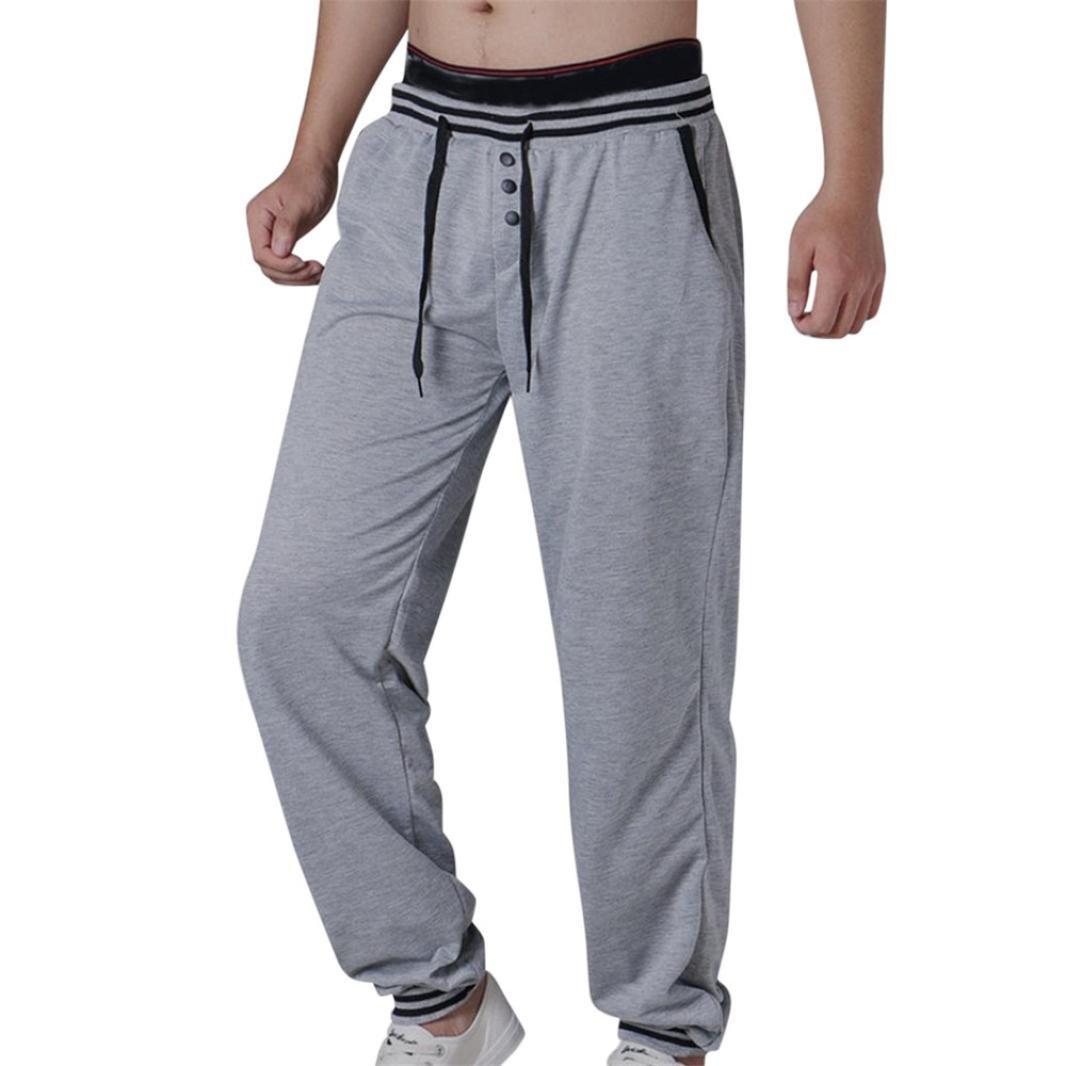 WAWAYA Mens Fashion Jogger Elastic Waist Active Drawstring Zipper Long Pants