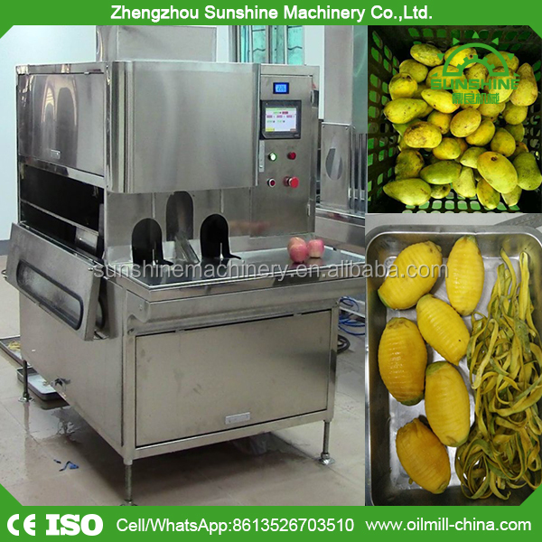 Automatic mango processing slicing mango peeling machine