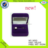 new design gift packaging top quality jewelry velvet box for earing