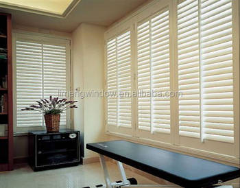 Aluminium Frame Windows With Built In Blinds Double Panel Glass With Adjustable  Blinds For Inside