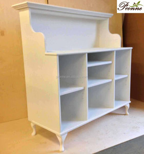 New Style White Moulded Panel Salon Reception Desk