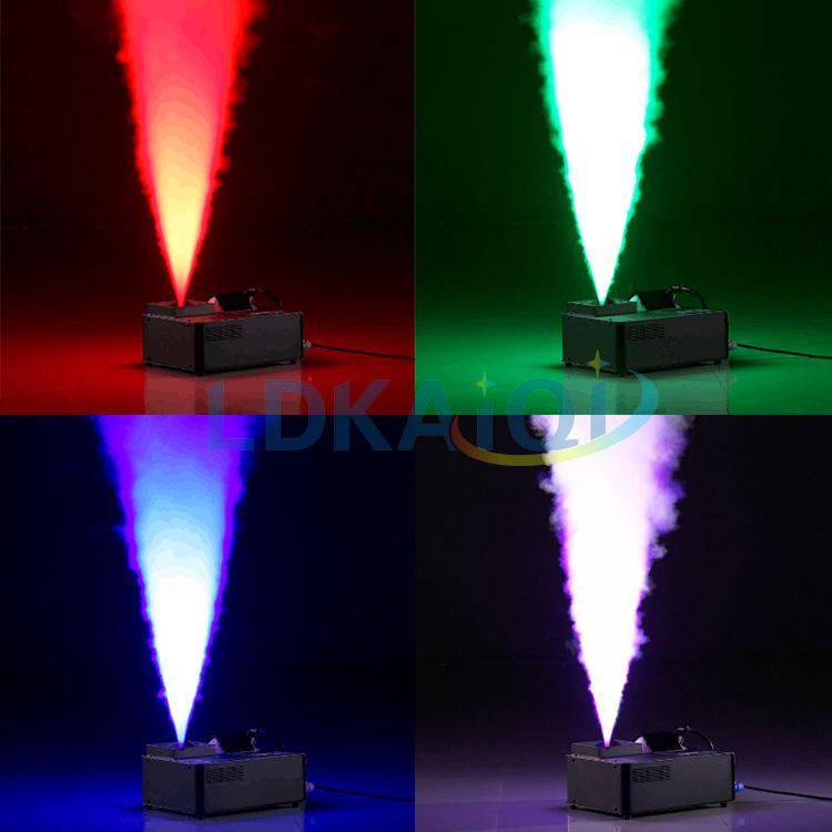 Profesyonel sahne etkisi 1500w 24 adet rgb düğün led dikey sis duman makinesi