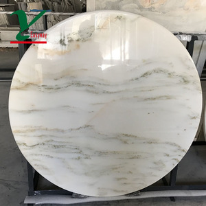 Factory sales high standard round marble slab table top