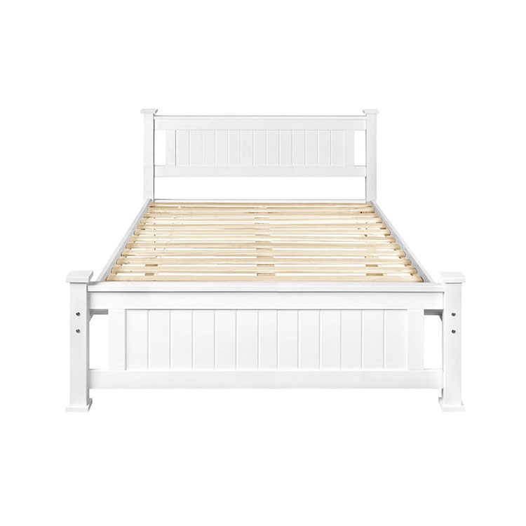 China Manufacturer New Model Double Size Solid Wood Pine Bed
