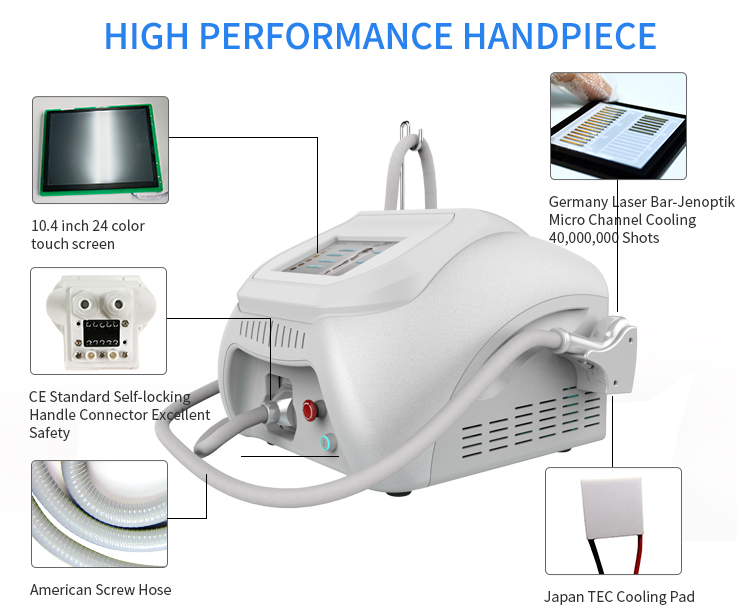 808nm diode laser hair removal machine / portable diode laser hair device / diode laser alexandrite laser