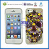 C&T Gold or siliver foil skull design tpu case for iphone 5 mini