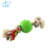 Bone shape Pet chew rope toys with plastic dog ball for cleaning teeth in middle