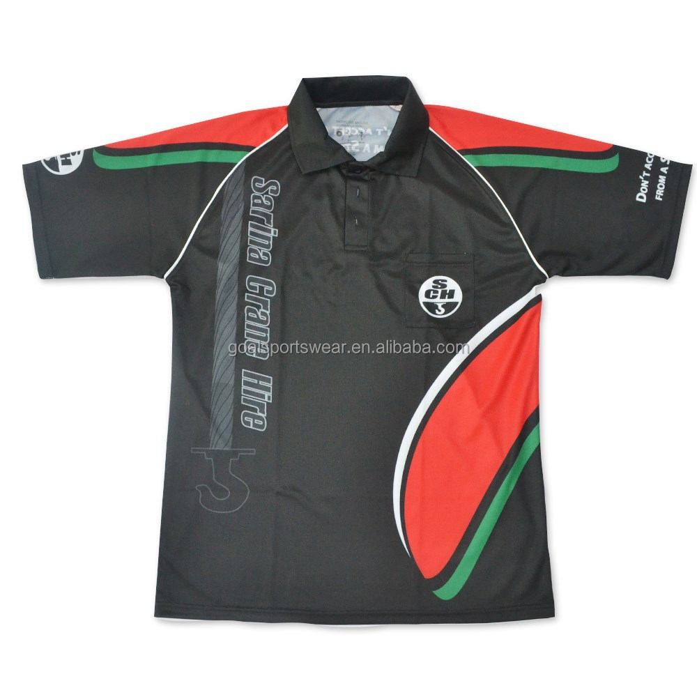 100% polyester sports dri fit customized sublimation polo shirts wholesale with pocket
