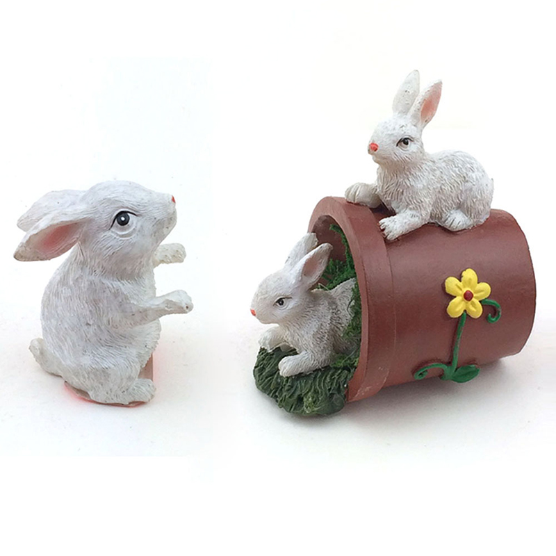 Factory Price Polyresin Crafts Easter Decoration Bunny